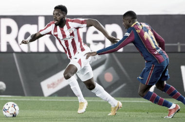 Williams intentando desbordar a Dembele Foto: Athletic Club