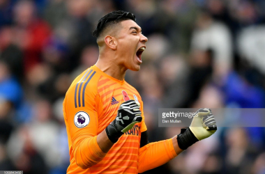 Neil Etheridge celebrating the winner via Getty Images