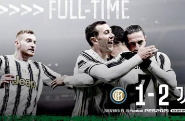 La Juve batte 2-1 l'Inter nell'andata della semifinale di Coppa Italia