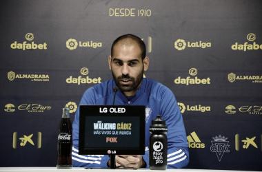 Fali durante la rueda de prensa / Cádiz CF