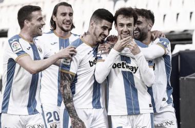 Rubén Pardo celebrando el primer gol del partido frente al Albacete | Foto: CD Leganés