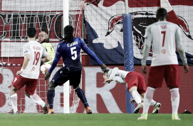 Il gol del definitivo 4-1 di Lainer | Twitter @Europa League