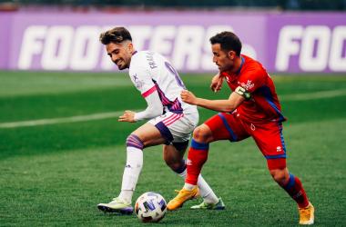 Juan Carlos Menudo está siendo el mejor jugador de la plantilla. Imagen: Numancia.