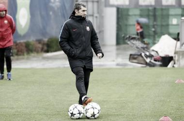 Ernesto Valverde. Fonte: FC Barcelona/Twitter