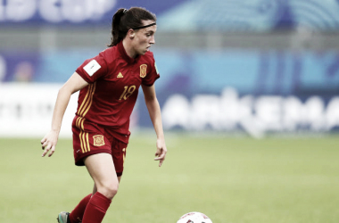 Eva Navarro en un partido cuando jugaba con la sub-17 / Foto: FIFA