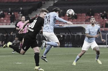 El Gladbach tuvo la oportunidad de achicar el marcador al final del encuentro. / Twitter: UEFA Champions League oficial
