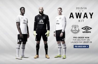 El Everton vestirá de blanco como visitante