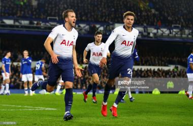 Kane scored twice as Tottenham put six past Everton | Photo: Getty