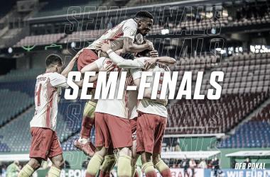Con goles de Poulsen y Hwang, el RB Leipzig avanzó a las semifinales. / Twitter: Die Roten Bullen oficial