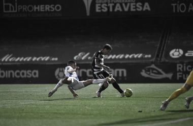 Rubén Castro anotando el 1-0 para el Cartagena | Foto: FC Cartagena