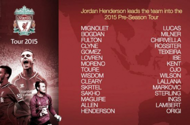 El Liverpool confirma la lista de jugadores para la pretemporada