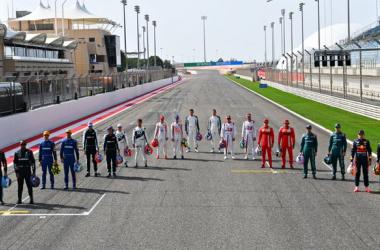 Todos los pilotos de la parilla// Fuente: Twitter F1