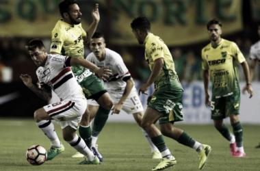 São Paulo empata com o Defensa y Justicia e está eliminado da Copa Sul-Americana (1-1)