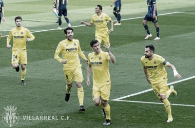 "<p class=""MsoNormal"">Los jugadores celebran el gol de Gerard / Foto: Villarreal C.F<o:p></o:p></p>"