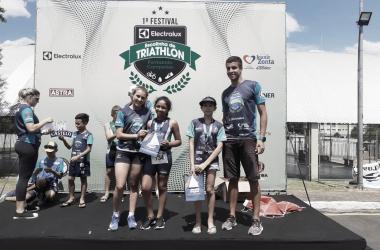 Festival inédito de triathlon reúne 200 atletas mirins em Curitiba, capital paranaense