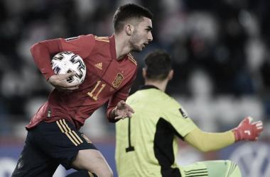 Ferran Torres , una de las figuras en la agónica victoria de 'La Roja' en Tiflis| Fotografía: UEFA