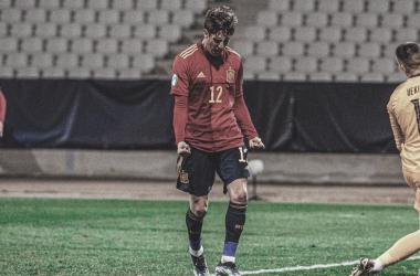 Gol y noventa minutos de Miranda en la victoria de la sub-21 frente a Eslovenia