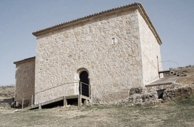 Vista exterior de la ermita de San Baudelio de Berlanga. Fuente: Creative Commons