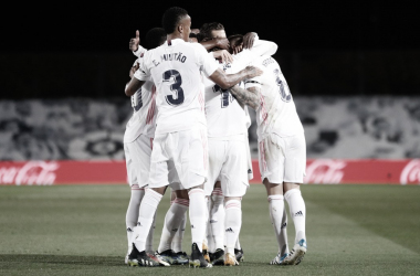 Los jugadores del Madrid celebrando un gol | Real Madrid CF