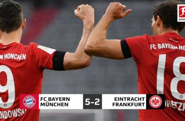 Manita del Bayern alla sua versione: 5-2 al Francoforte