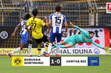 Il Dortmund fatica, ma batte l'Hertha