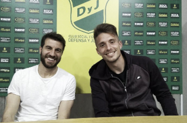 Ezequiel Unsain junto a Francisco Cerro. Foto: Club Defensa y Justicia.