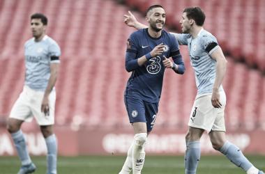 Ziyech celebra el 1-0 / FOTO: Chelsea FC