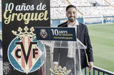 """<p class=""""MsoNormal"""">Jaume Costa durante su discurso // Foto: Villarreal C.F&nbsp;<o:p></o:p></p>"""