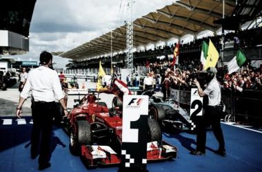 Monolugares após o GP da Malásia (Foto: Ferrari)