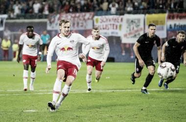 El mediocampista sueco fue la figura del RB Leipzig. Foto: @DieRotenBullen
