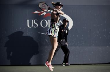 Mladenovic moves on to the second round | Photo: Garrett Ellwood/USTA