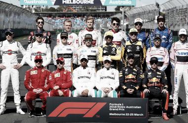 Foto de los 20 pilotos. Foto: F1.