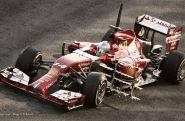 O F14-T em testes (Foto: F1 Fanatic.co.uk).