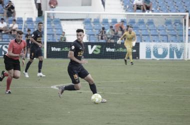 Alejandro Camacho en un partido | Foto: UCAM Murcia CF