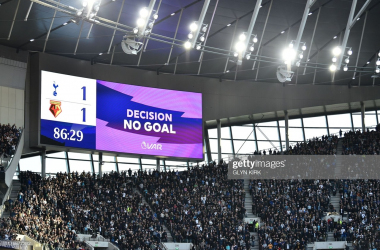 VAR was at the centre of further controversy at the Tottenham Hotspur stadium | Photo by Getty Images/Glyn Kirk