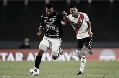 Miguel Borja y Héctor Martínez autores de dos de los goles en el último enfrentamiento entre ambos .