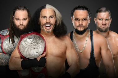 Deleters of Worlds vs. B-Team will face off at Extreme Rules for the Raw tag team championship. Photo credit: wwe.com