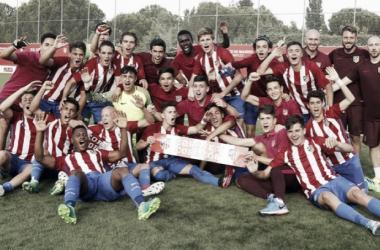El Cadete A del Atlético de Madrid, campeón de Liga.   Foto: Atlético de Madrid