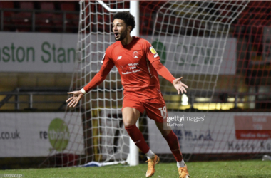 Above: New Bradford City signing Lee Angol in action for Leyton Orient last season (Photo by MI News/NurPhoto via Getty Images)
