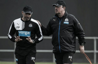 Pecchia (pictured left) leaves his role at Newcastle to manage Verona