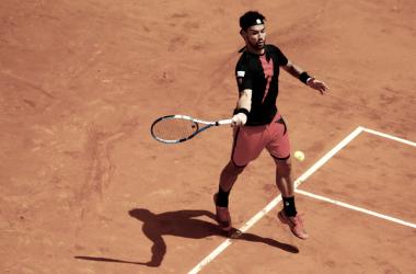 Fabio Fognini durante un partido la semana pasada en el Masters 1000 de Roma. Foto: zimbio.com