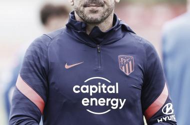 Diego Pablo Simeone en el entrenamiento / Twitter: Atlético de Madrid
