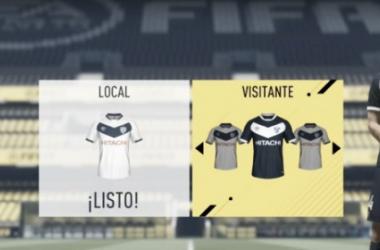 La indumentaria titular, alternativa y tercera equipación de Vélez en el FIFA 17 | Foto: Prensa Vélez
