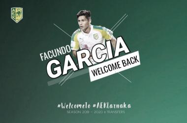 Facu García regresa a Larnaca