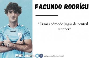 """Facundo Rodriguez: """"Con la línea de 3 o de 4 el equipo intenta jugar"""""""