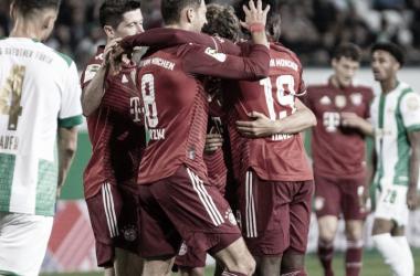 La celebración de los hombres de Nagelsmann / Foto: @FCBayern