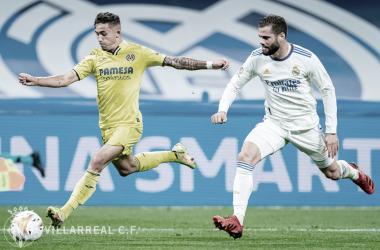 Yeremy Pino y Nacho Fernández durante el Madrid 0 - 0 Villarreal. | Imagen: @VillarrealCF
