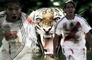 """Hace 7 años que Radamel Falcao dejó River para emprender su carrera europea. Hoy, """"El Tigre"""" tiene 30 años y el hincha millonario aun sueña con su regreso. Foto: Nicolás Kralj."""