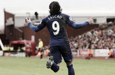 Falcao acumula 3 goles y 3 asistencias en poco mas de 600 minutos disputados hasta ahora con el Manchester.