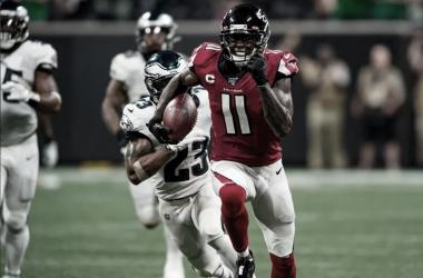 Julio Jones de camino al TD que decidiría el encuentro / Foto: Atlanta Falcons